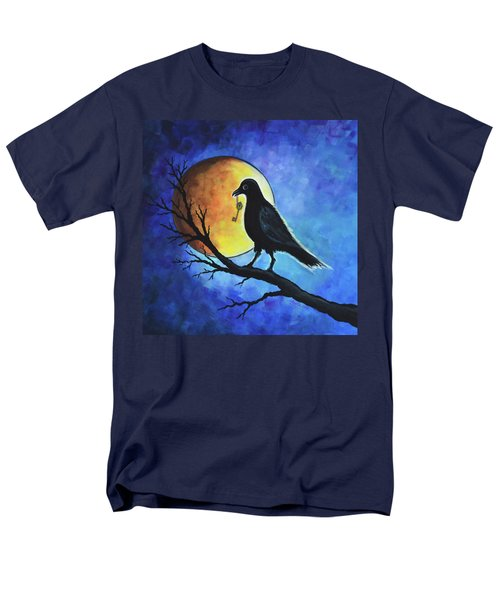 Men's T-Shirt  (Regular Fit) featuring the painting Raven With Key by Agata Lindquist