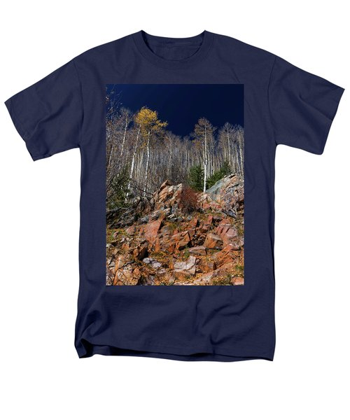 Men's T-Shirt  (Regular Fit) featuring the photograph Reaching Into Blue by Stephen Anderson