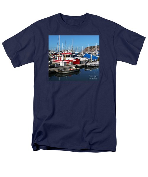 Men's T-Shirt  (Regular Fit) featuring the photograph Red Boat by Cheryl Del Toro