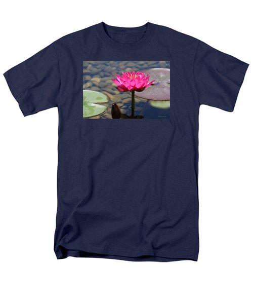 Men's T-Shirt  (Regular Fit) featuring the photograph Red Lotus by Debra     Vatalaro