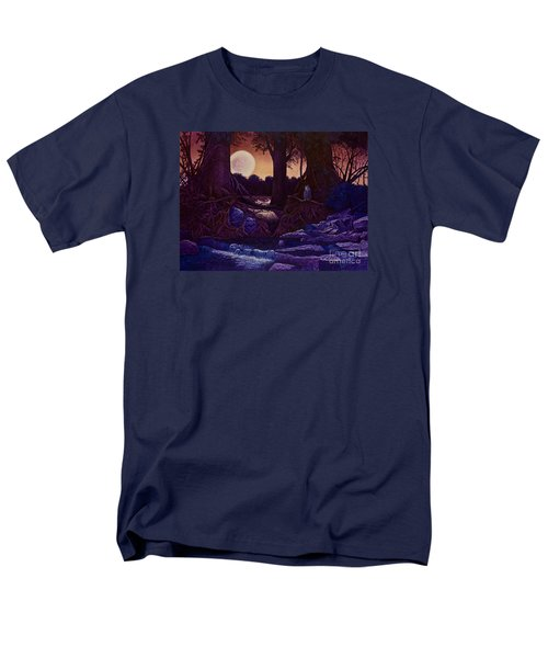 Men's T-Shirt  (Regular Fit) featuring the painting Red Moon by Michael Frank