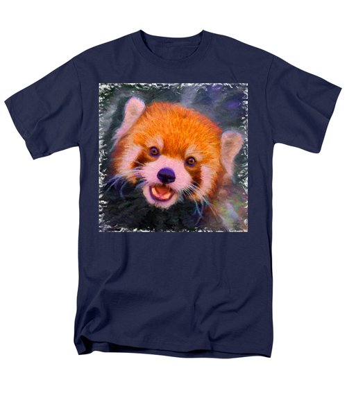 Red Panda Cub Men's T-Shirt  (Regular Fit) by Caito Junqueira