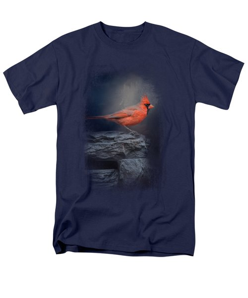 Redbird On The Rocks Men's T-Shirt  (Regular Fit) by Jai Johnson
