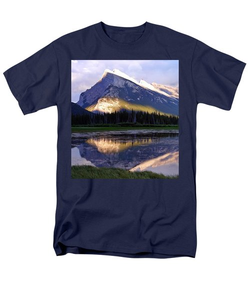 Mount Rundle Men's T-Shirt  (Regular Fit) by Heather Vopni