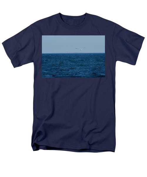 Men's T-Shirt  (Regular Fit) featuring the digital art Return To The Isle Of Shoals by Barbara S Nickerson