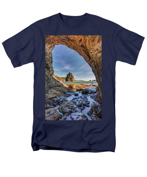 Rialto Beach Sea Arch Men's T-Shirt  (Regular Fit) by Pierre Leclerc Photography