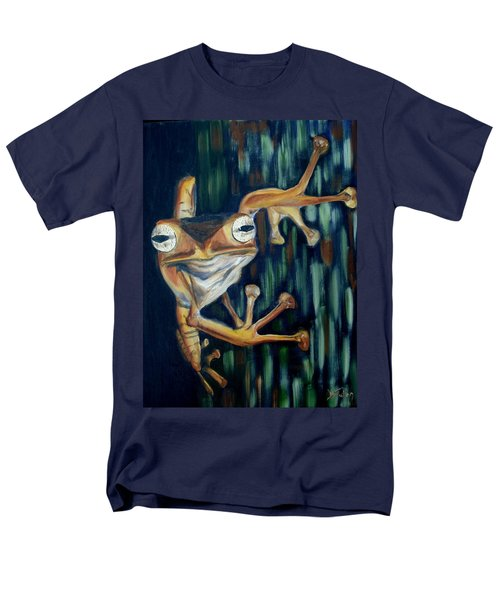 Men's T-Shirt  (Regular Fit) featuring the painting Ribbit by Donna Tuten