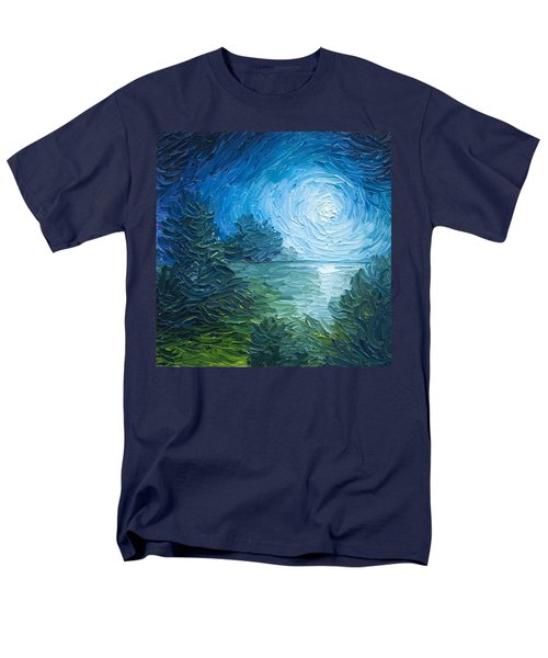 River Moon Men's T-Shirt  (Regular Fit) by James Christopher Hill