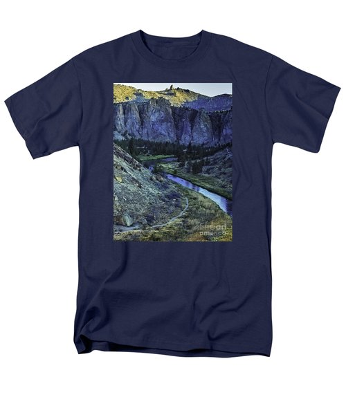 Rock Climbing Mecca Men's T-Shirt  (Regular Fit) by Nancy Marie Ricketts