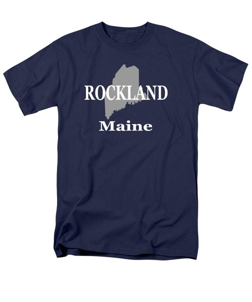 Men's T-Shirt  (Regular Fit) featuring the photograph Rockalnd Maine State City And Town Pride  by Keith Webber Jr