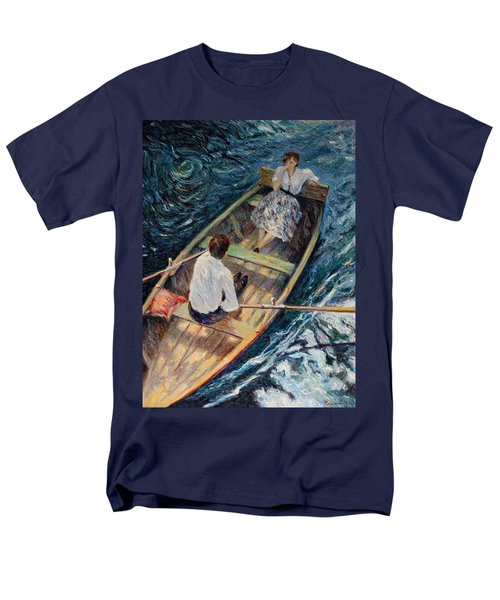 Dordogne , Beynac-et-cazenac , France ,romantic Boat Trip Men's T-Shirt  (Regular Fit) by Pierre Van Dijk
