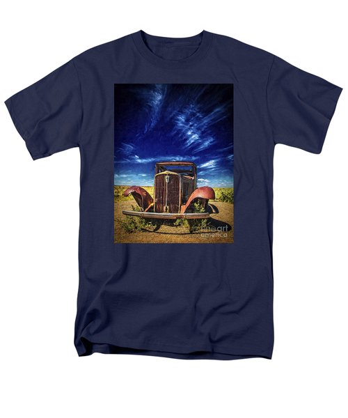 Route 66 Derelict  ... Men's T-Shirt  (Regular Fit) by Chuck Caramella