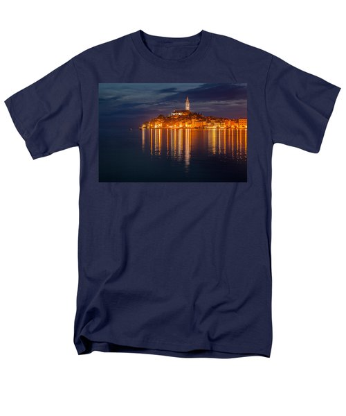 Men's T-Shirt  (Regular Fit) featuring the photograph Rovinj By Night by Davorin Mance