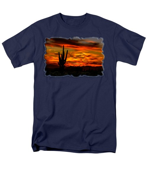 Saguaro Sunset H51 Men's T-Shirt  (Regular Fit) by Mark Myhaver