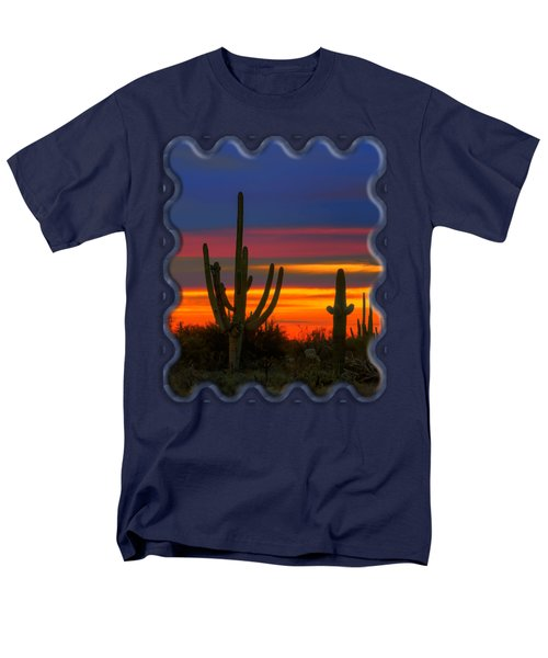 Saguaro Sunset V30 Men's T-Shirt  (Regular Fit) by Mark Myhaver