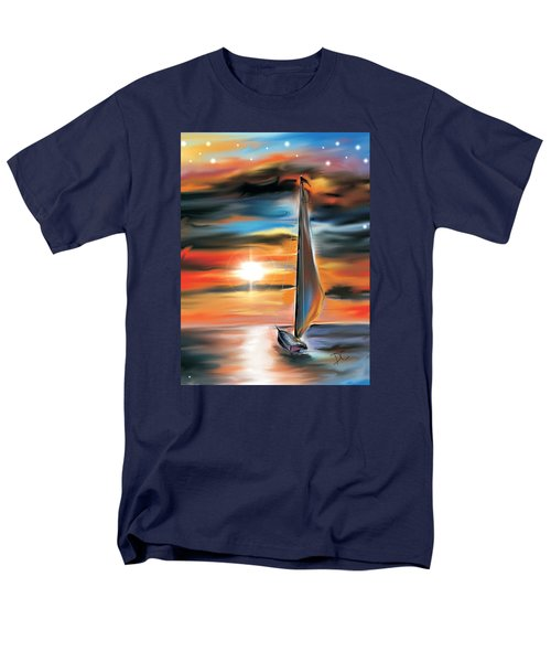 Sailboat And Sunset Men's T-Shirt  (Regular Fit) by Darren Cannell