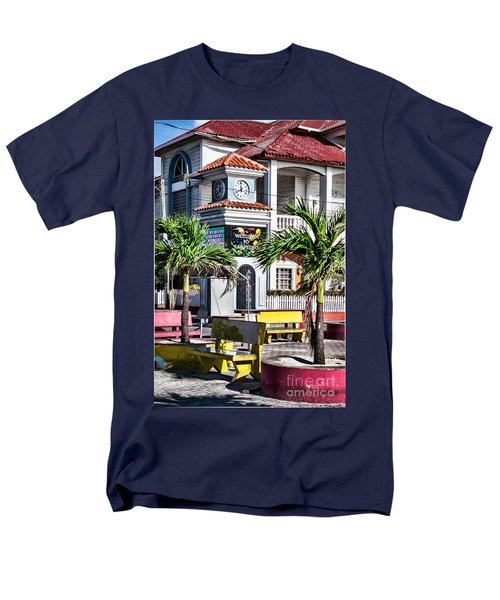 Men's T-Shirt  (Regular Fit) featuring the photograph San Pedro Town Plaza by Lawrence Burry