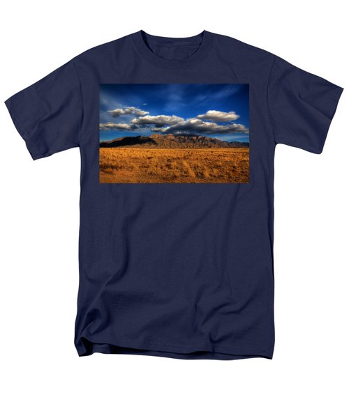 Sandia Crest In Late Afternoon Light Men's T-Shirt  (Regular Fit) by Alan Vance Ley