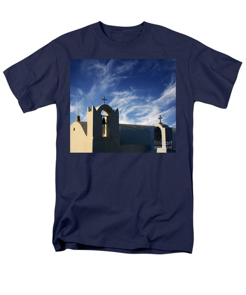 Santorini Greece Architectual Line 3 Men's T-Shirt  (Regular Fit) by Bob Christopher