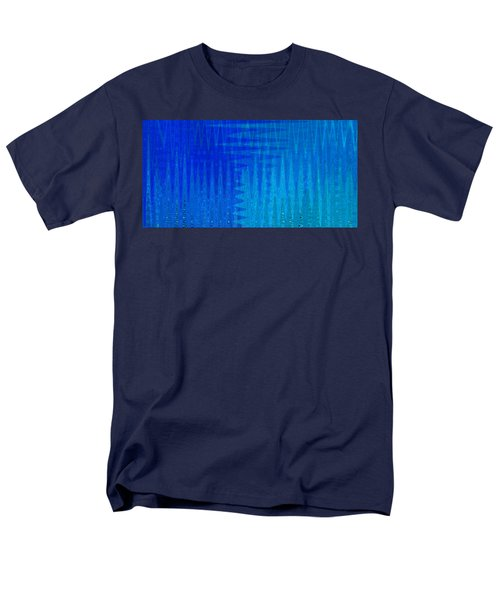 Sea Song Blue On Blue Men's T-Shirt  (Regular Fit) by Stephanie Grant