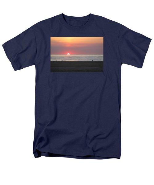 Men's T-Shirt  (Regular Fit) featuring the photograph Seagull Watching Sunrise by Robert Banach