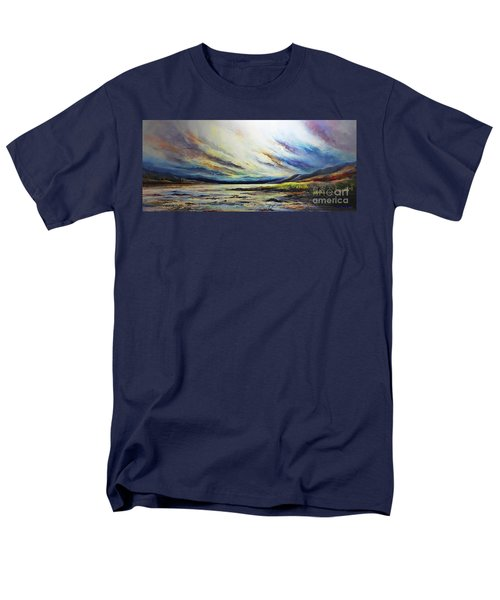 Men's T-Shirt  (Regular Fit) featuring the painting Seaside by AmaS Art