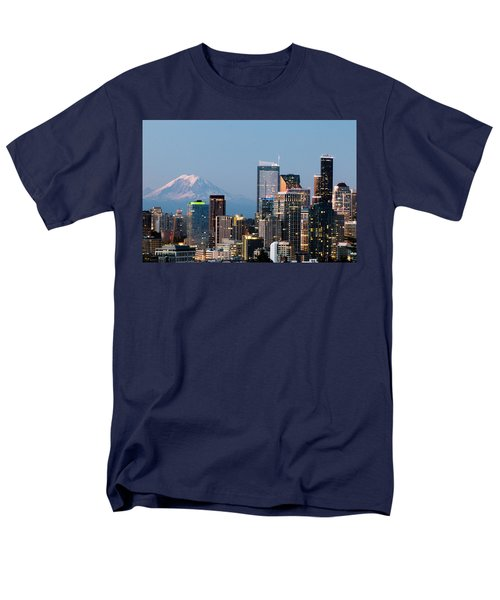 Seattle At First Light I Men's T-Shirt  (Regular Fit) by E Faithe Lester