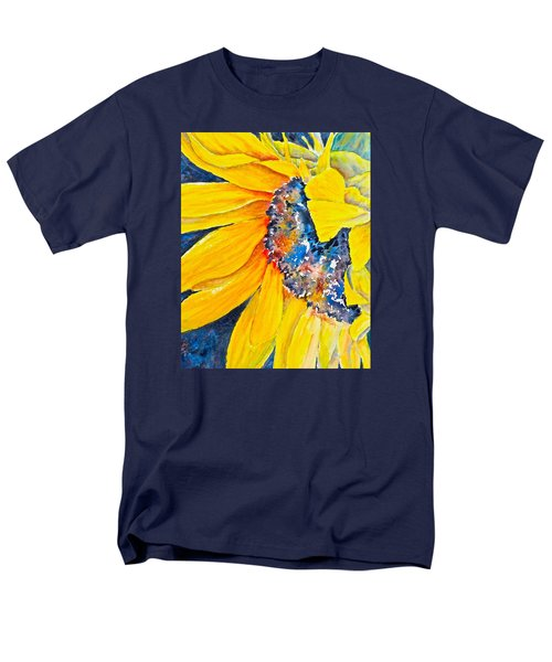 Men's T-Shirt  (Regular Fit) featuring the painting September Sunflower by Carolyn Rosenberger