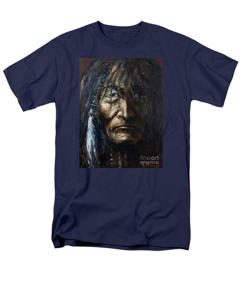 Men's T-Shirt  (Regular Fit) featuring the painting Shaman by Arturas Slapsys