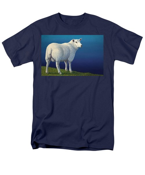Sheep At The Edge Men's T-Shirt  (Regular Fit) by James W Johnson