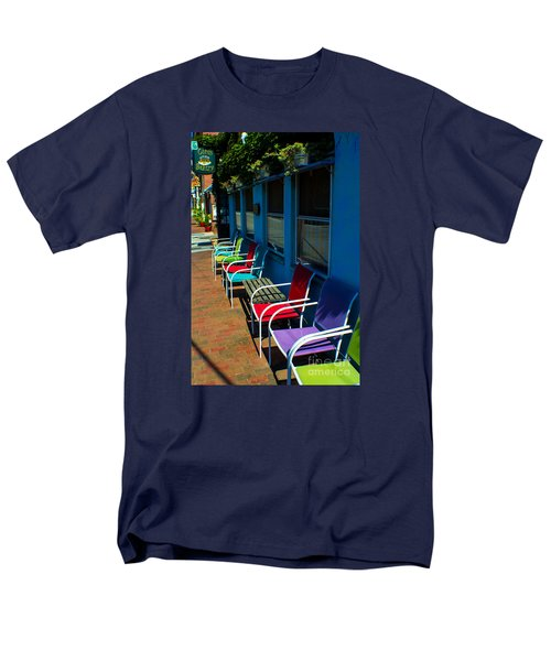 Sidewalk Cafe Men's T-Shirt  (Regular Fit) by Kevin Fortier
