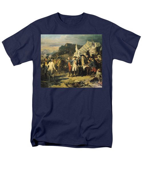 Siege Of Yorktown Men's T-Shirt  (Regular Fit) by Louis Charles Auguste  Couder