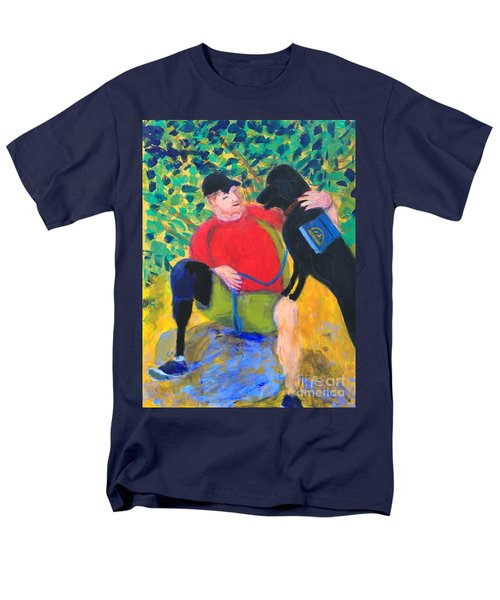 Men's T-Shirt  (Regular Fit) featuring the painting One Team Two Heroes-4 by Donald J Ryker III