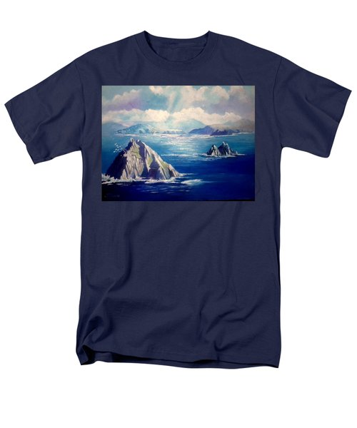 Skelligs Ireland Men's T-Shirt  (Regular Fit) by Paul Weerasekera