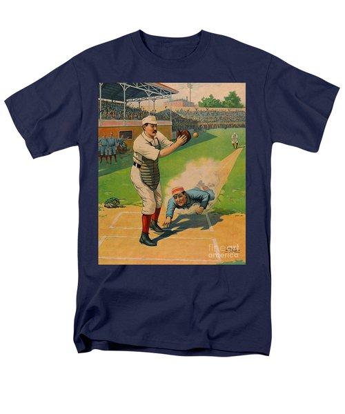 Sliding Home 1897 Men's T-Shirt  (Regular Fit) by Padre Art
