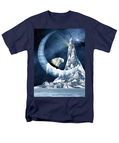 Sliding On The Moon Men's T-Shirt  (Regular Fit) by Mihaela Pater