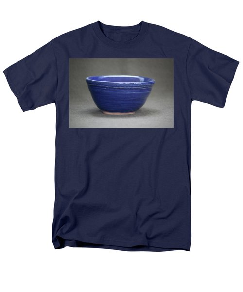Small Blue Ceramic Bowl Men's T-Shirt  (Regular Fit) by Suzanne Gaff