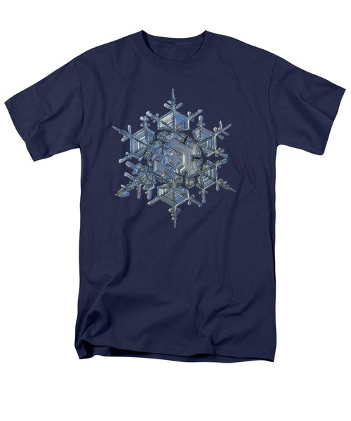 Men's T-Shirt  (Regular Fit) featuring the photograph Snowflake Photo - Crystal Of Chaos And Order by Alexey Kljatov