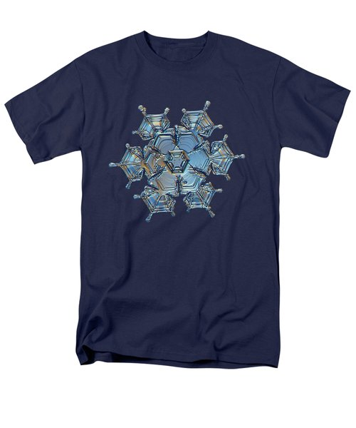 Men's T-Shirt  (Regular Fit) featuring the photograph Snowflake Photo - Flying Castle by Alexey Kljatov