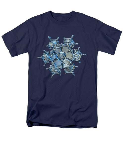 Men's T-Shirt  (Regular Fit) featuring the photograph Snowflake Photo - Flying Castle Alternate by Alexey Kljatov