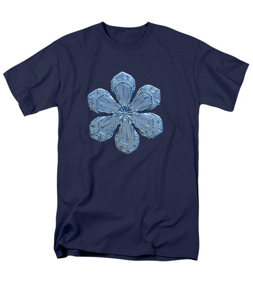 Men's T-Shirt  (Regular Fit) featuring the photograph Snowflake Photo - Forget-me-not by Alexey Kljatov