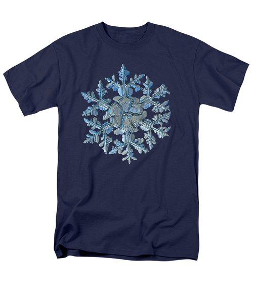 Men's T-Shirt  (Regular Fit) featuring the photograph Snowflake Photo - Gardener's Dream by Alexey Kljatov