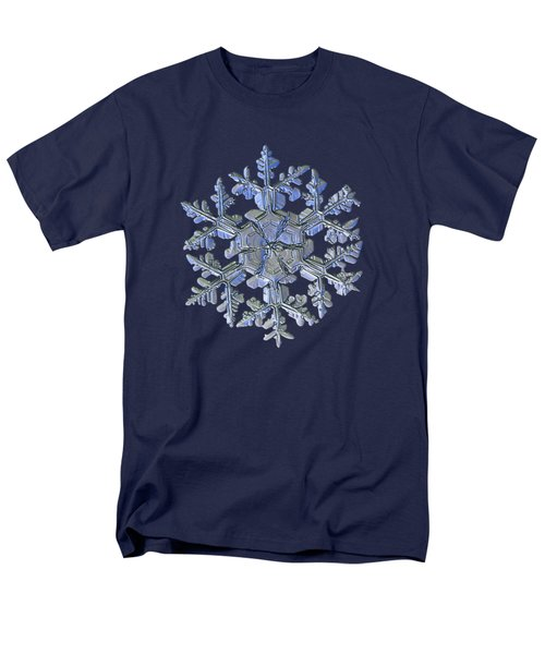 Men's T-Shirt  (Regular Fit) featuring the photograph Snowflake Photo - Gardener's Dream Alternate by Alexey Kljatov