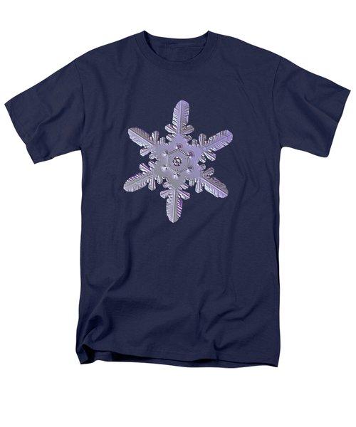 Snowflake Photo - Heart-powered Star Men's T-Shirt  (Regular Fit) by Alexey Kljatov