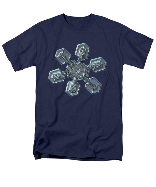 Men's T-Shirt  (Regular Fit) featuring the photograph Snowflake Photo - High Voltage by Alexey Kljatov