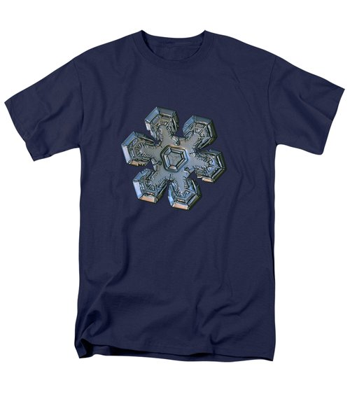 Men's T-Shirt  (Regular Fit) featuring the photograph Snowflake Photo - Massive Silver by Alexey Kljatov