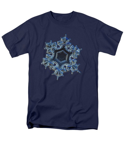 Men's T-Shirt  (Regular Fit) featuring the photograph Snowflake Photo - Spark by Alexey Kljatov
