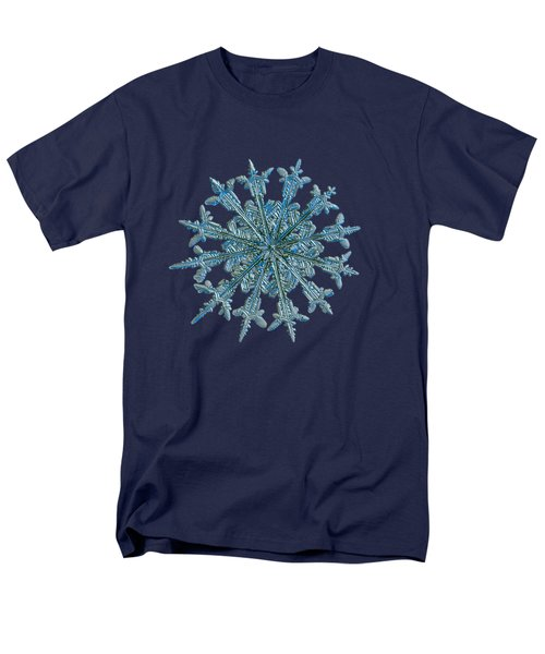 Men's T-Shirt  (Regular Fit) featuring the photograph Snowflake Photo - Twelve Months by Alexey Kljatov