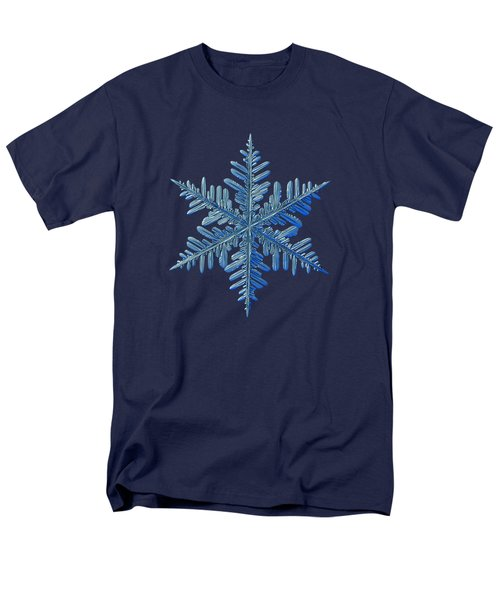 Men's T-Shirt  (Regular Fit) featuring the photograph Snowflake Photo - Winter Is Coming by Alexey Kljatov