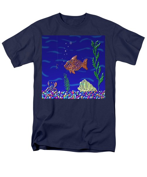 Something Fishy Men's T-Shirt  (Regular Fit) by Kevin Caudill